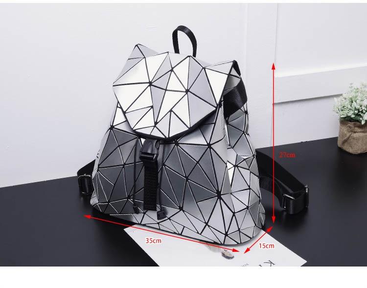 Sac à dos à motifs géométriques holographiques pour Femmes