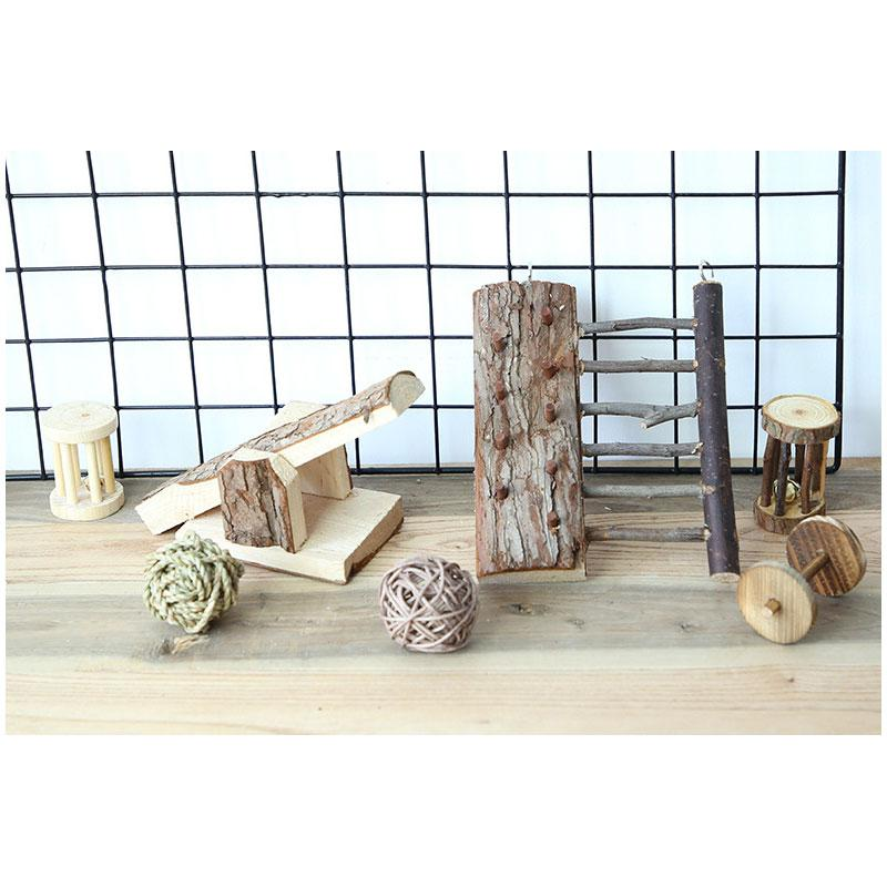 Wood Seesaw For Pet Hamster Funny Rat Mouse Chinchillas Guinea Pig Small Animal Toy Play House Exercise Toy