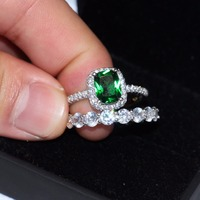 DIY Big Promotion 3ct Real 925 Silver Ring set SWA Element Birthstone cz Rings For Women Wholesale Wedding Engagement Jewelry