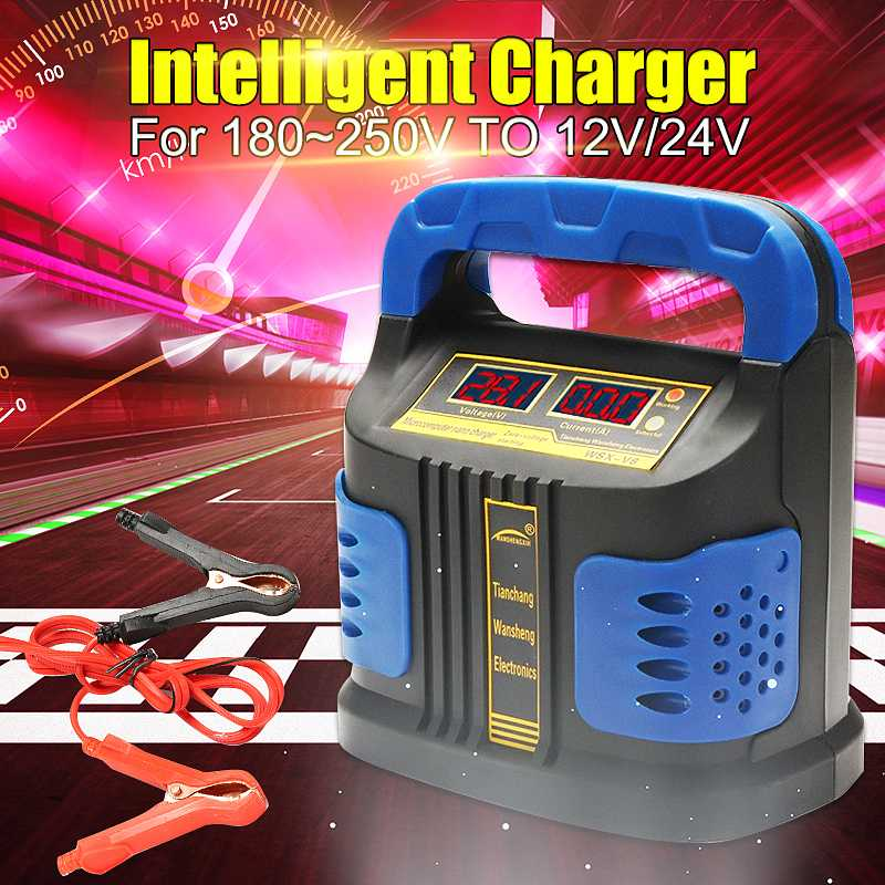LEORY 360W 110V Full Automatic Car Intelligent <font><b>12V</b></font>/24V <font><b>15A</b></font> Dual-screen LCD Display Car Jump Starter Repair <font><b>Battery</b></font> <font><b>Charger</b></font> image