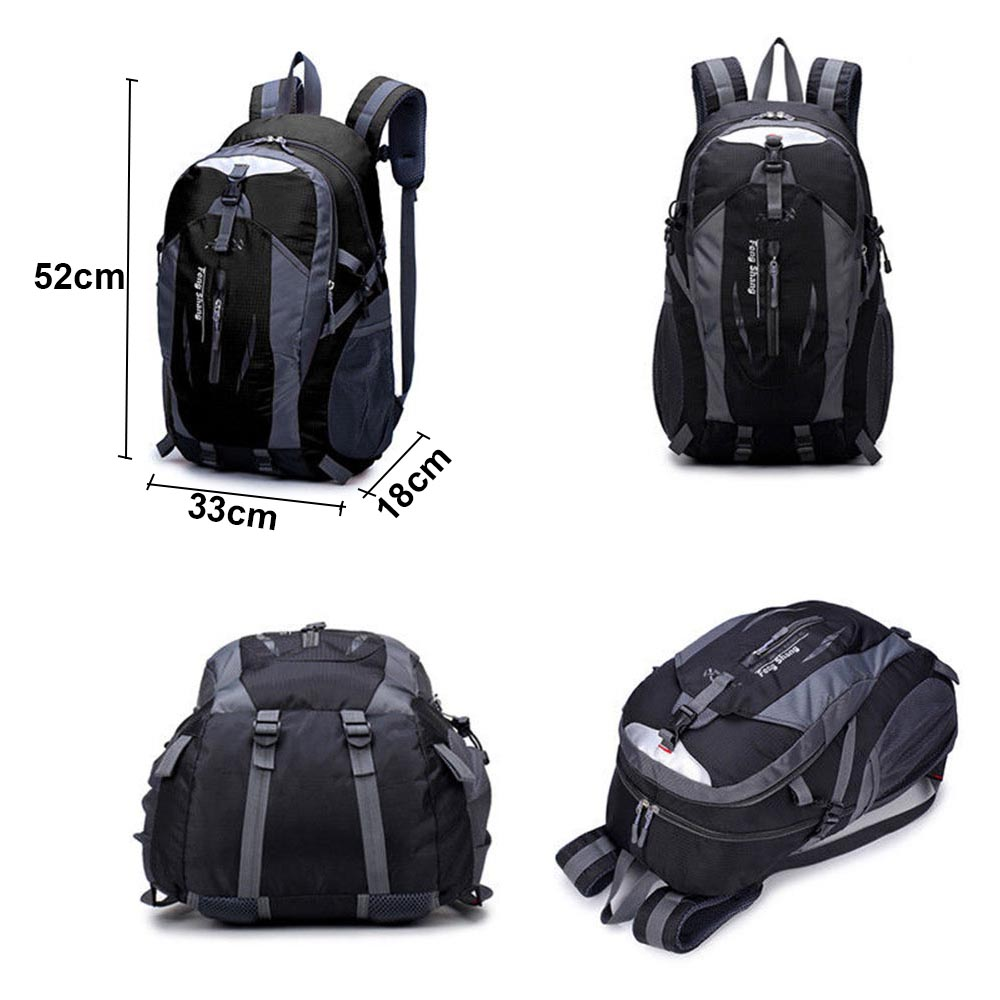 1pc 40L Black Outdoor Sports Climbing Mountaineering Backpack Camping Hiking Trekking Rucksack Travel Waterproof Cover Bike Bags in Backpacks from Luggage Bags