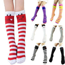 Winter Autumn Children Kids Baby Socks Cute Leg Warmers Girls Cotton Knee High Toddler Trim Boot Sock Hot New Fashion Hot Sale(China)