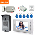 "7"" Screen Video Doorbell Intercom Door Phone  System +  ID Keyfobs + Electric Lock+Alunimum Camera + Power Supply+ Door Exit"