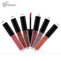 Gift Box 12 Pcs/Set Pop Feel Cosmetics Lip Kit Maquiagem Matte Lip Gloss Matt Lipstick Liquid Make Up Lips Makeup Lip Stick