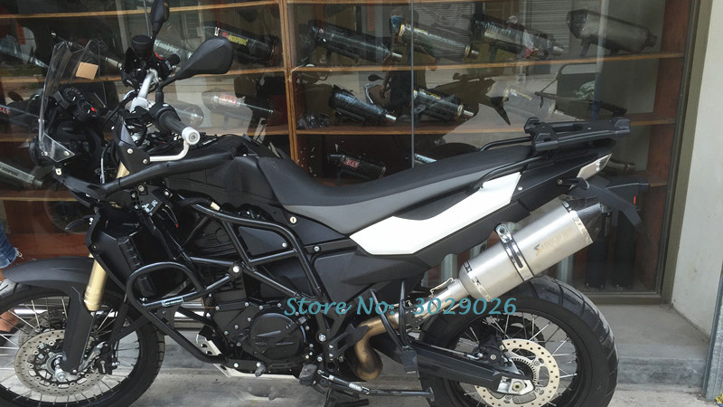 Slip On For BMW F650 F700 GS F800 F800GS Muffler Exhaust Pipe Set with Middle Link Pipe Escape DB Killer Carbon Fiber