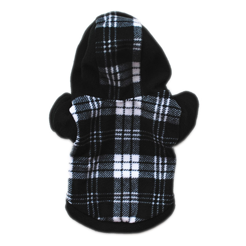 Sydzsw Winter Pet Cat Clothing Fashion Plaid Small Dog Cat Hoodie Black Chihuahua Sweater Coat Yorkshire Dogs Cats Supplies