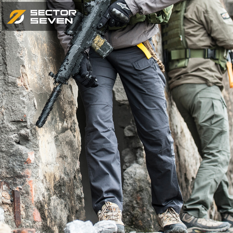 Ix7 Tactical Trousers Spring And Autumn Male Slim Bag For Training Pants Trousers Casual Overalls
