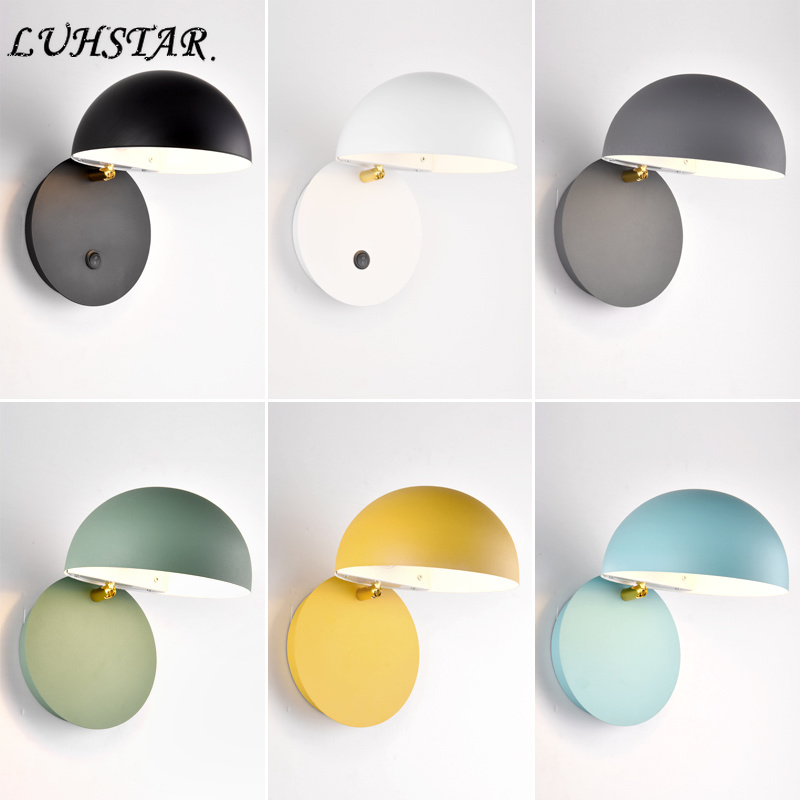Modern Simple Led Wall Lamp Wall Decor Iron Art Wall Light Bedroom Bedside  Lamp Aisle Living Room Decoration Bathroom Light