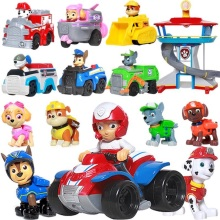Paw Patrol Puppy Patrol Dog patrulla canina Toys Anime Figurine Car Plastic Toy Action Figure model Children Gifts toys цена 2017
