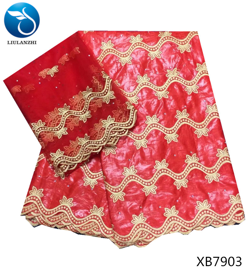 LIULANZHI bazin fabrics with stones 2018 African Bazin Riche Getzner Batik fabric Guinea Brocade for women clothes 7yards XB79 in Fabric from Home Garden