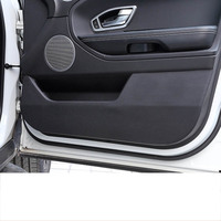 lsrtw2017 fiber leather car door anti kick mat co pilot box anti kick for land rover discovery sport 2014 2015 2016 2017 2018