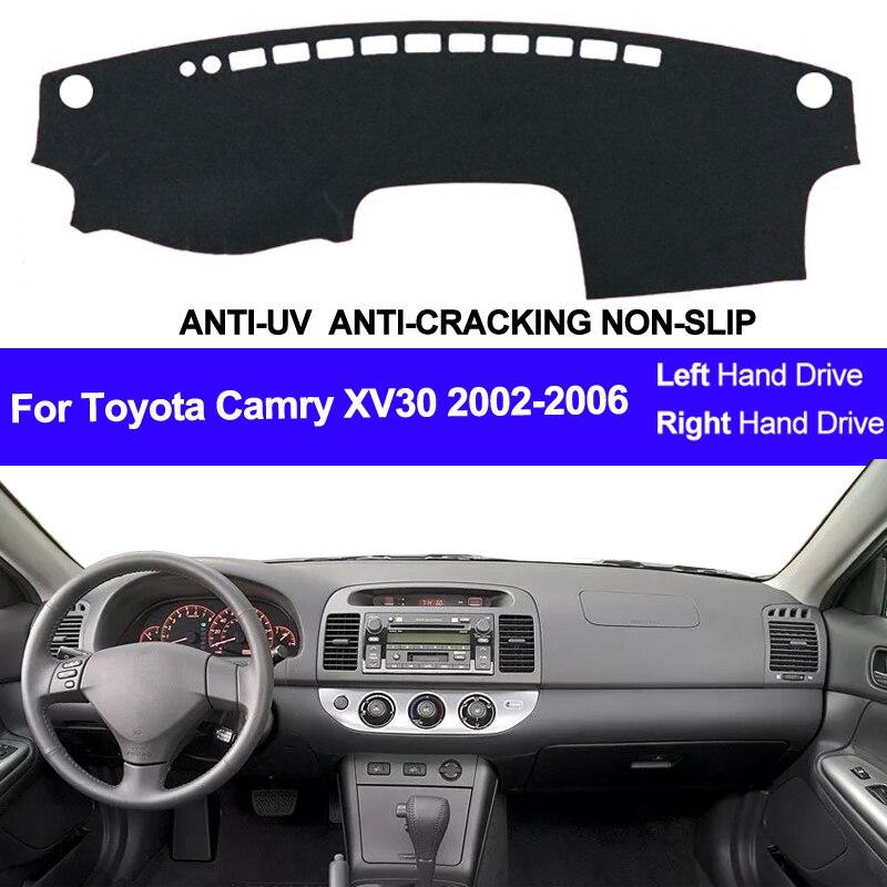 Toyota camry xv30 2002 2003 2004 2005 2006 자동차 대시 보드 커버 대시 매트 패드 대시 보드 커버 카펫 자동 썬 dashmat