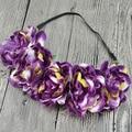 Chrysanthemum hair band sun flower wreath 5 peony flower head bridal hair ornaments beach travel camera hair band 238