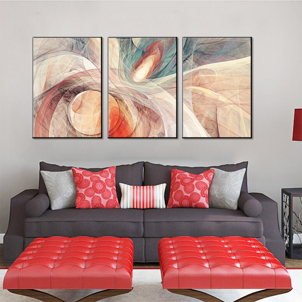 Unframed Canvas Painting 3 HD Art Paintings Graffiti Abstract Art Decorative Paintings Living Room Mural Free Shipping