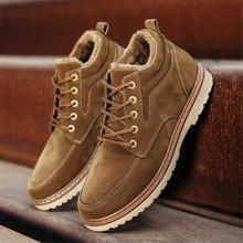 Botas de terciopelo para hombre, zapatos masculinos de estilo informal para otoño e invierno, de algodón, para mantener el calor
