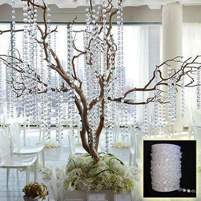 99ft guirnalda de tienda de la boda de diamante de acrílico cortina de cuentas d