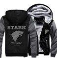 EUA tamanho Ghost House of Stark Game of Thrones Direwolf Moletons Engrosse Com Capuz Zipper Casaco Jaqueta de Inverno está Chegando