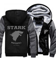 USA size Game of Thrones Direwolf Ghost House of Stark Winter is Coming Jacket Sweatshirts Thicken Hoodie Zipper Coat
