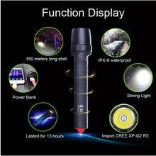 USB Power Bank импорт CREE XP-G2 R5 светодиодной вспышкой встроенный аккумулятор 10400 мАч фонарик Открытый IPX-8 водонепроницаемый безопасности автомобиля молоток