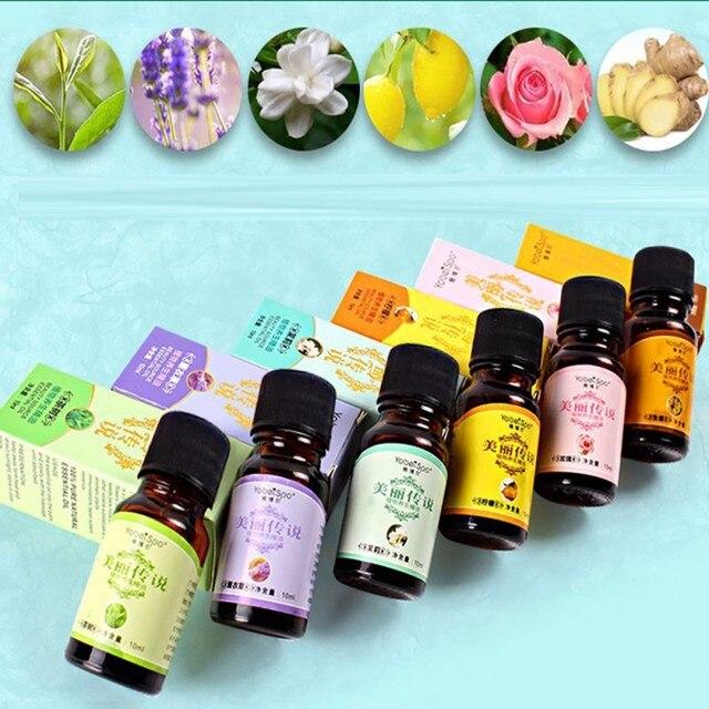 10 ml aceites esenciales masaje corporal orgánico aceite de fragancia cuidado de la salud difusores de aromaterapia aceites esenciales puros