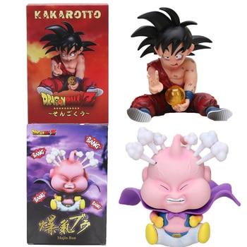 10cm Dragon Ball Z Son goku child kid kakarotto Majin buu PVC Action Figure Toys - discount item  13% OFF Action & Toy Figures