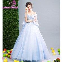 Элегантное бальное платье светло-голубой платье для выпускного вечера со шнуровкой сзади Праздничное платье Винтаж вечернее платье Длинные вечерние платье Новинка 2017 года Дизайн