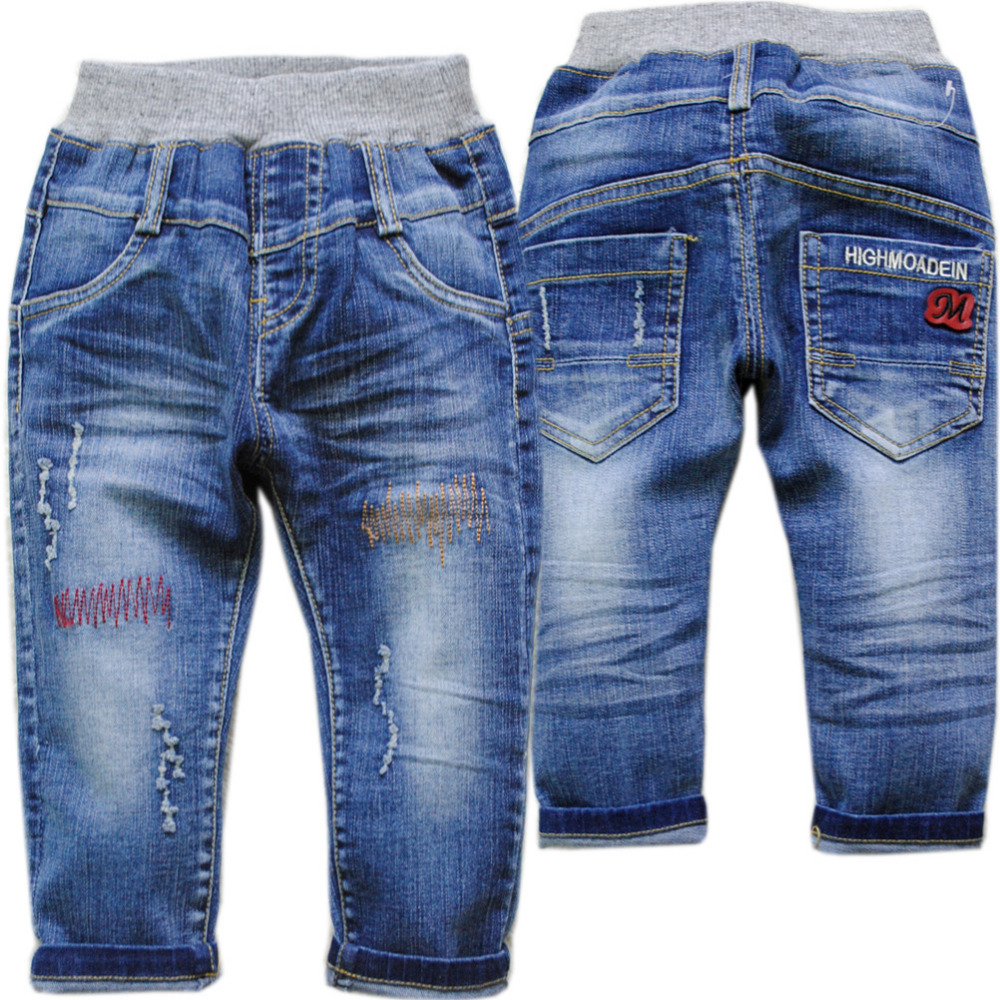 4045 baby jeans baby boys jeans pants casual pants blue kids trousers children clothing soft denim pants new spring autumn