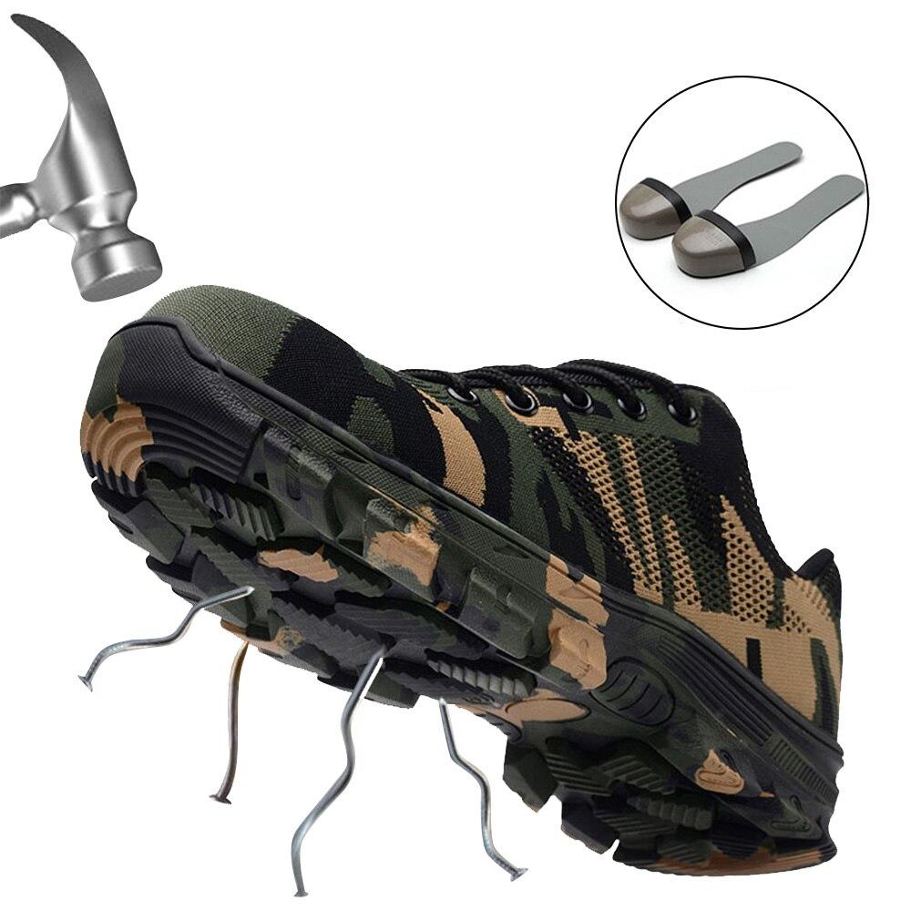 Brillant Jackshibo Männer Sicherheit Schuhe Stahl Kappe Arbeit & Sicherheit Stiefel Plus Größe Männer Camouflage Punktion Beweis Stiefel Chaussure De Securite Waren Des TäGlichen Bedarfs