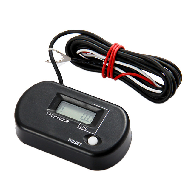 Powersports Resettable Digital RPM Tachometer Moto Timer for Mini Motorcycle Gas Dirt Bike Parajet