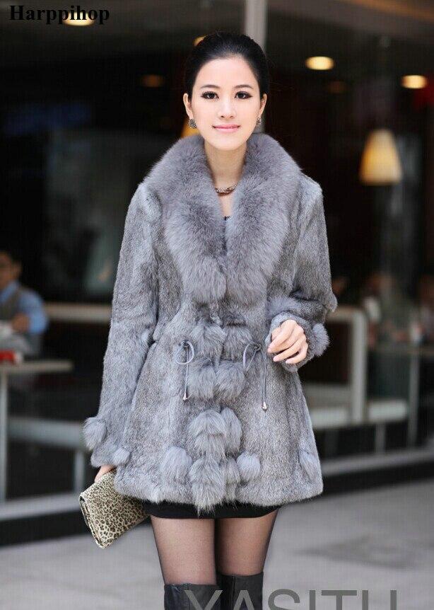 D'hiver Veste Dames Sauvage Femmes De Col Lapin Manteaux lavande noir gris Véritable Naturel Manteau marron Fox Avec Rouge Fourrure Survêtement 2017 5Axqzq