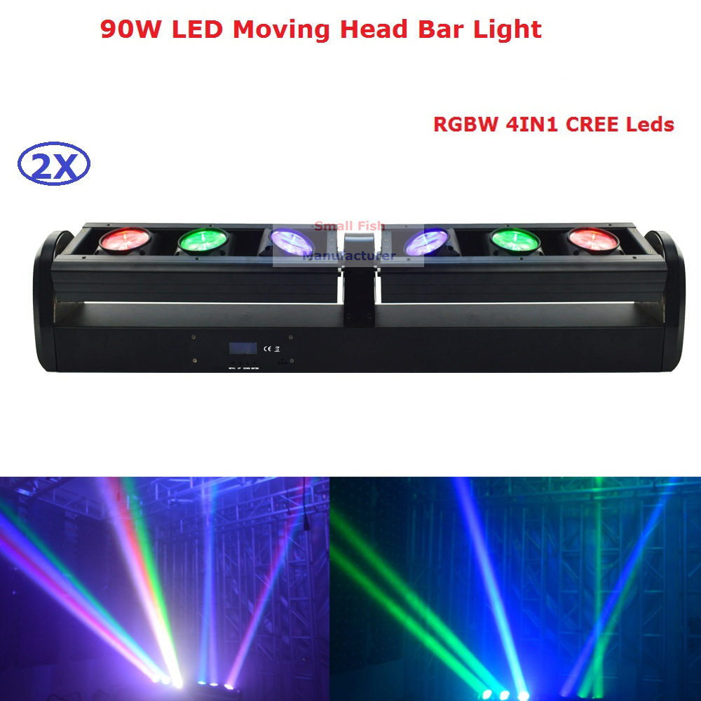 Best Price 2Pcs/Lot 6X12W 4IN1 Indoor Led Moving Head Light RGBW Led Bar Light DMX 512 Mode 6/16/28/32 Channels Fast Shipping nema43 best price 6 0a 12nm 115mm