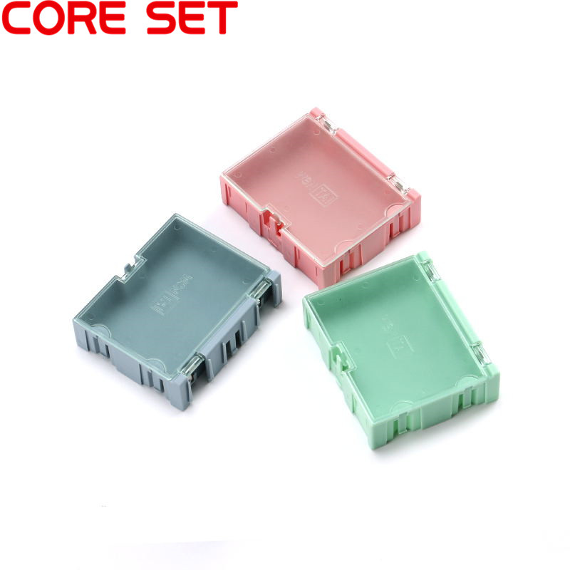 3pcs 75*63*21mm SMD Storage Box SMT Mini Electronic Component Tool Practical Jewelry Storage Case High Quality 12 pcs smd smt electronic component storage box yellow