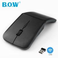 B.O.W 2.4Ghz Foldable Mini Mouse, Portable Rechargeable Silent Mice USB Optical Mouse for Computer Apple Laptop Desktop PC