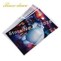 500 sztuk/partia Duży biały Theme Strona Gift Bag Party Dekoracje Plastikowe Cukierki Torba Loot Bag Dla Kids Festival Party Supplies
