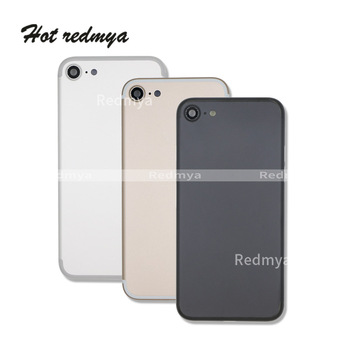 High quality Metal Back Battery Housing For iphone 7 7G 7Plus 5.5'' Chassis Frame Back Door Battery Cover +Sim Card