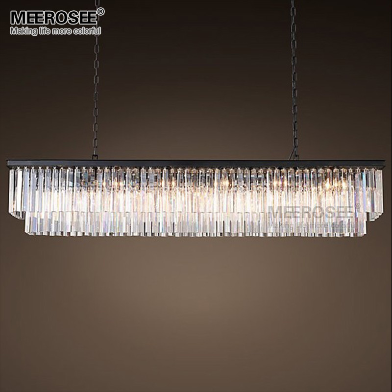 Modern Crystal Pendant Light Rectangle Suspension Light Fixture For Living room Dining room Hotel Project Illumination Lamp new arrival k9 crystal pendant light modern fashion single light led dining room hotel project lustre suspension drop light