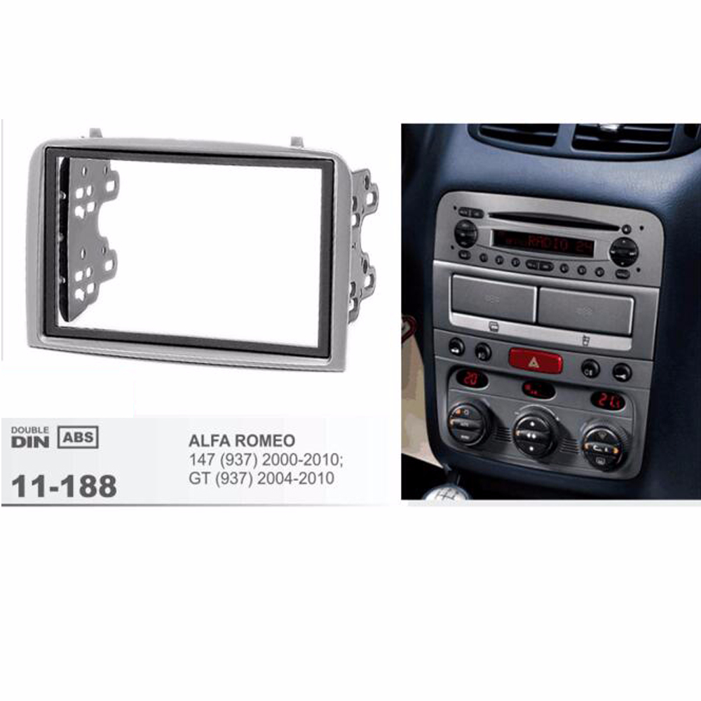 Alfa Romeo GT 2006 Car Radio Double Din Fascia Panel Fitting Kit