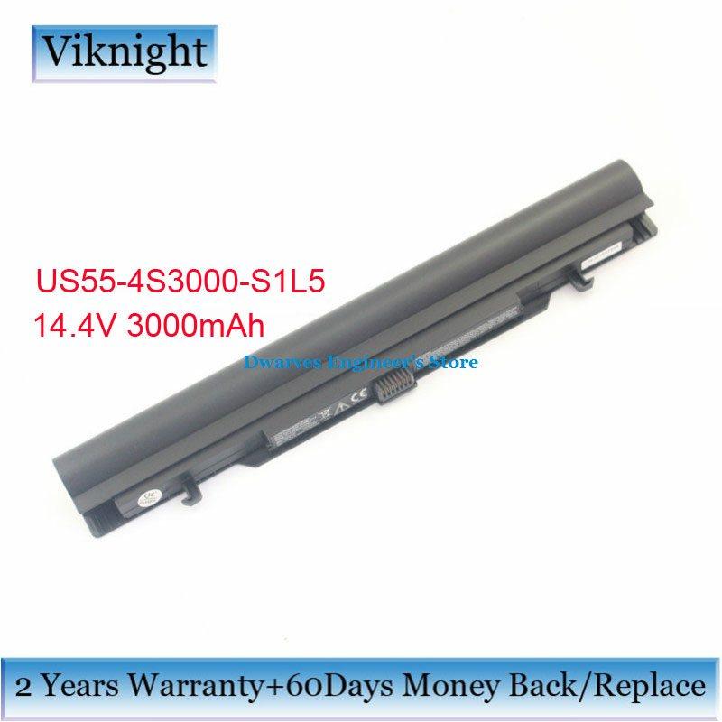 Véritable US55-4S3000-S1L5 batterie d'ordinateur portable pour Medion Akoya MD98736 MD98456 S6211T S 6615 T/MD98456 4ICR19/66 40046152 14.4 V 3000 mAh