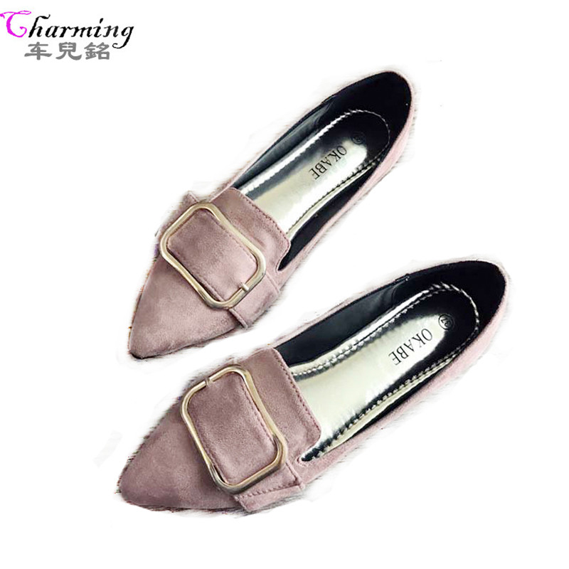 Fashion Women Shoes Woman Flats Casual Comfortable pointed toe Rubber Women Flat Shoe Hot Sale New Flat ALHF95 2017 new fashion spring ladies pointed toe shoes woman flats crystal diamond silver wedding shoes for bridal plus size hot sale