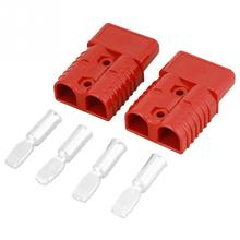 цена на 2pcs/lot Red Quick Connect Plugs 175A 600V Red Battery Quick Connect Plug Winch Connector Plug with 4 Accessories