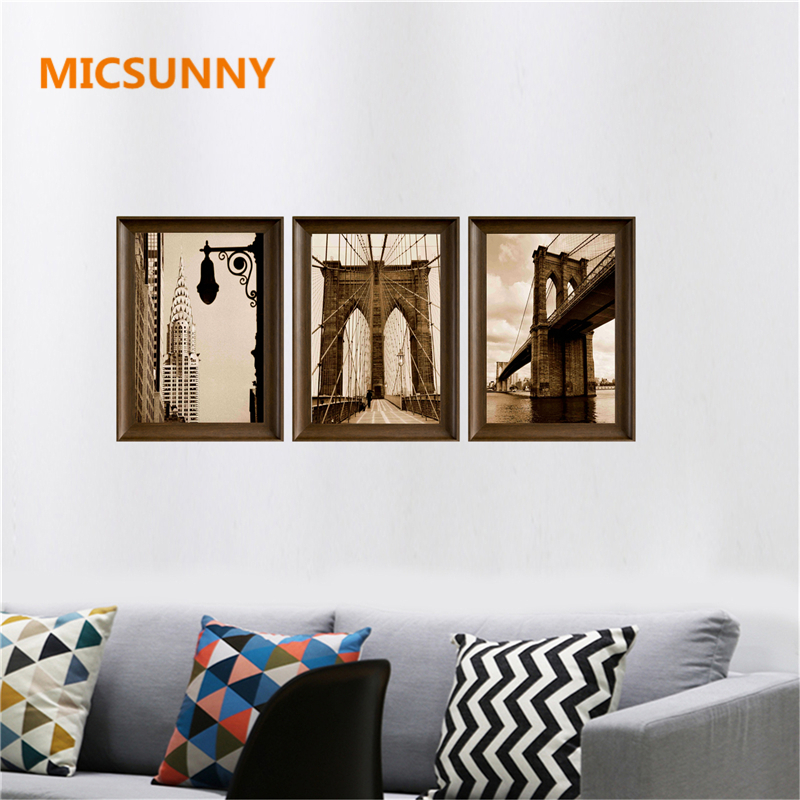 wall portraits living rooms. Online Shop MICSUNNY Vintage Home Wall Prints Posters Painting By Numbers  For Living Room Landmark London Bridge Modern Art Canvas Decor Aliexpress Mobile