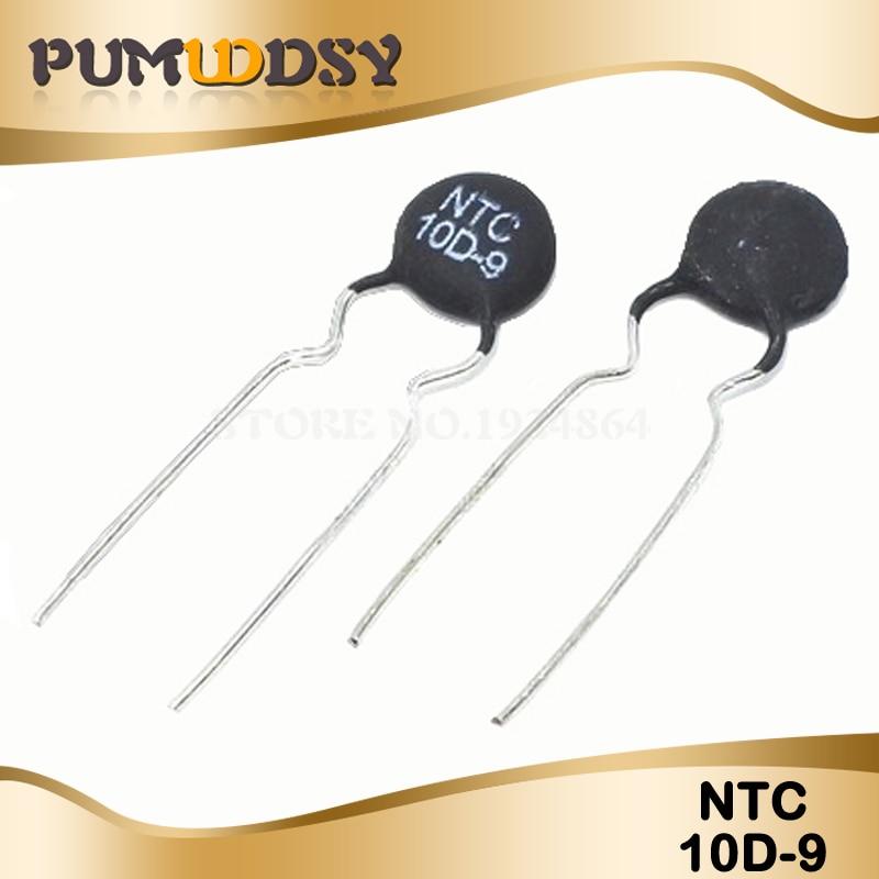 20pcs Thermistor Resistor NTC 10D-9 Thermal Resistor