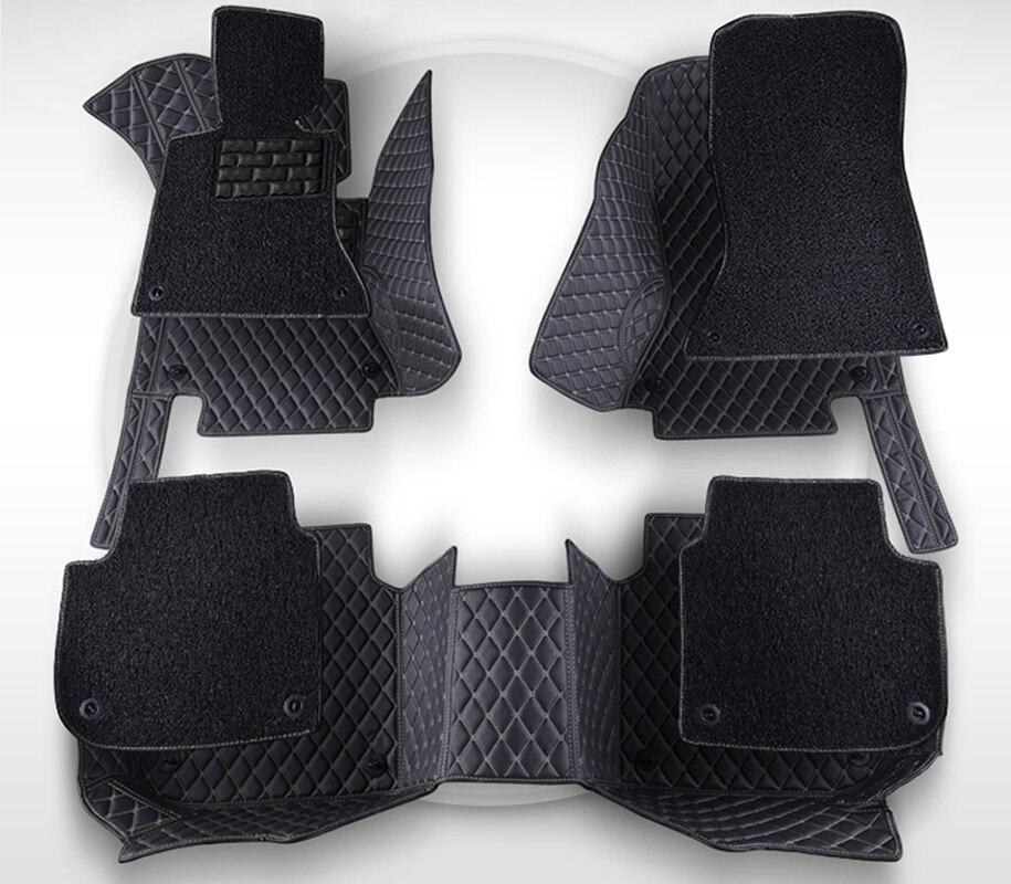 AA двойной Слои! Специальные Коврики для Mitsubishi Lancer Galant ASX Outlander прочный Водонепроницаемый кожа Ковры