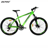 Professional 26 Inch Auminum 21 Speed Mountain Bike Ultra Light 17 Inch Frame Suspension Fork For