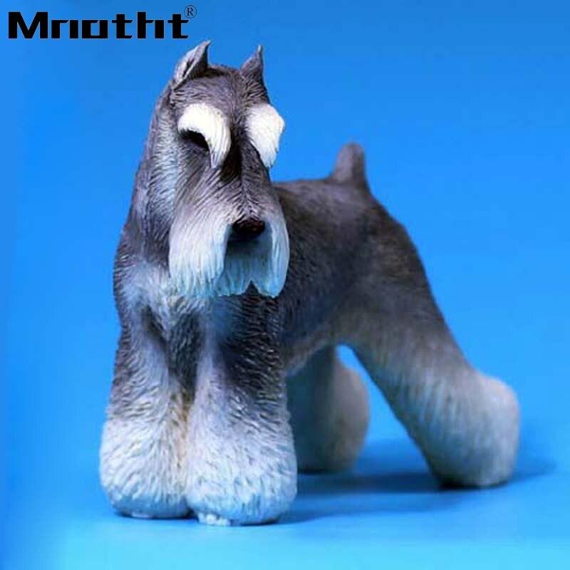 Mnotht MRZ019 bricolage Simulita Schnauzer chien modèle 1:6 soldat accessoires enfants cadeau pour 12 pouces figurine jouets Collection M3n