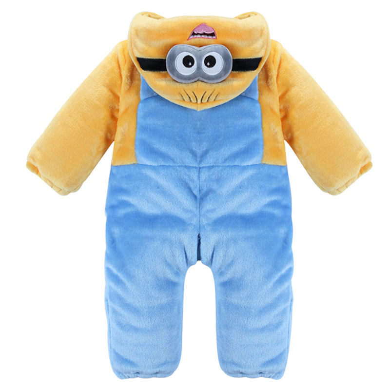 High Quality Baby Rompers Winter Thickened Cotton Boys Costume Girls Warm Clothes Kid Jumpsuit Children Outerwear Baby Clothes new parent child hat autumn winter high quality girls boys furrys balls cap warm thickened baby hats fashion children beanies