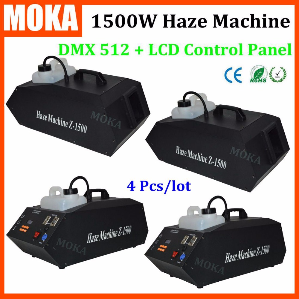 4 Pcs/lot HI-Quality 1500w Upward Fog Machine haze machine dmx Wireless Remote Control Fog Generator Stage DJ Disco Equipment mini multimeter holdpeak hp 36c ad dc manual range digital multimeter meter portable digital multimeter