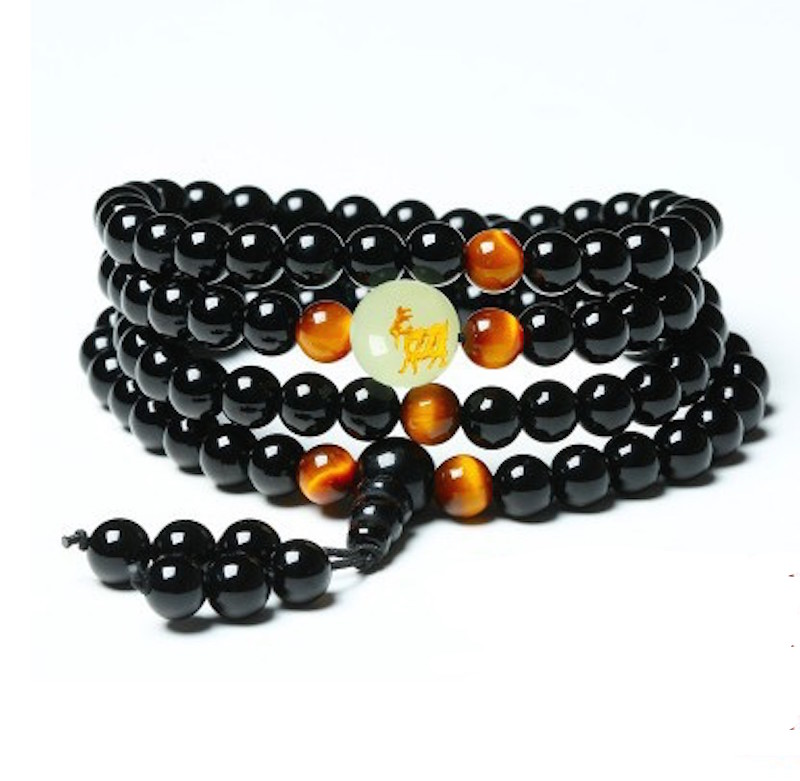 Onyx and Tiger's Eye Mala