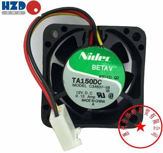 FREE SHIPPING Nidec 4CM 4020 12V 0.13A TA150DC C34637-58 Cooling Fan