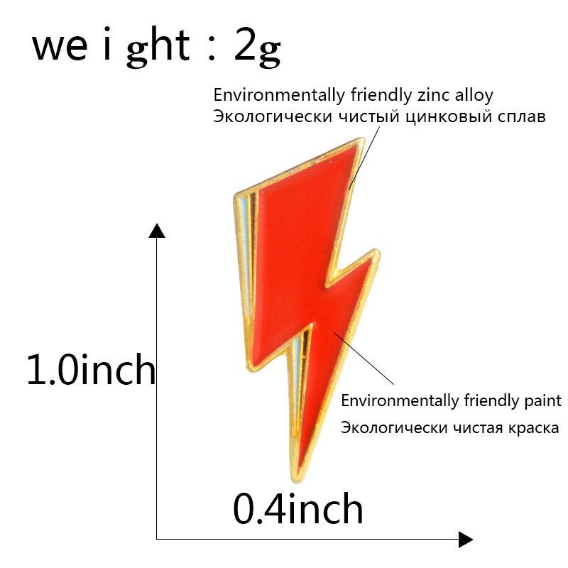 Aladdin Sane Lightning Bolt Enamel Pin David Bowie inspired Red lightning Brooch for Women Men Lapel Pin Jewelry 3